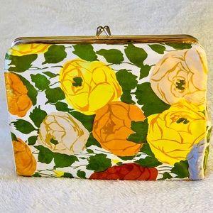 Handbags - Vintage floral cosmetic travel bag